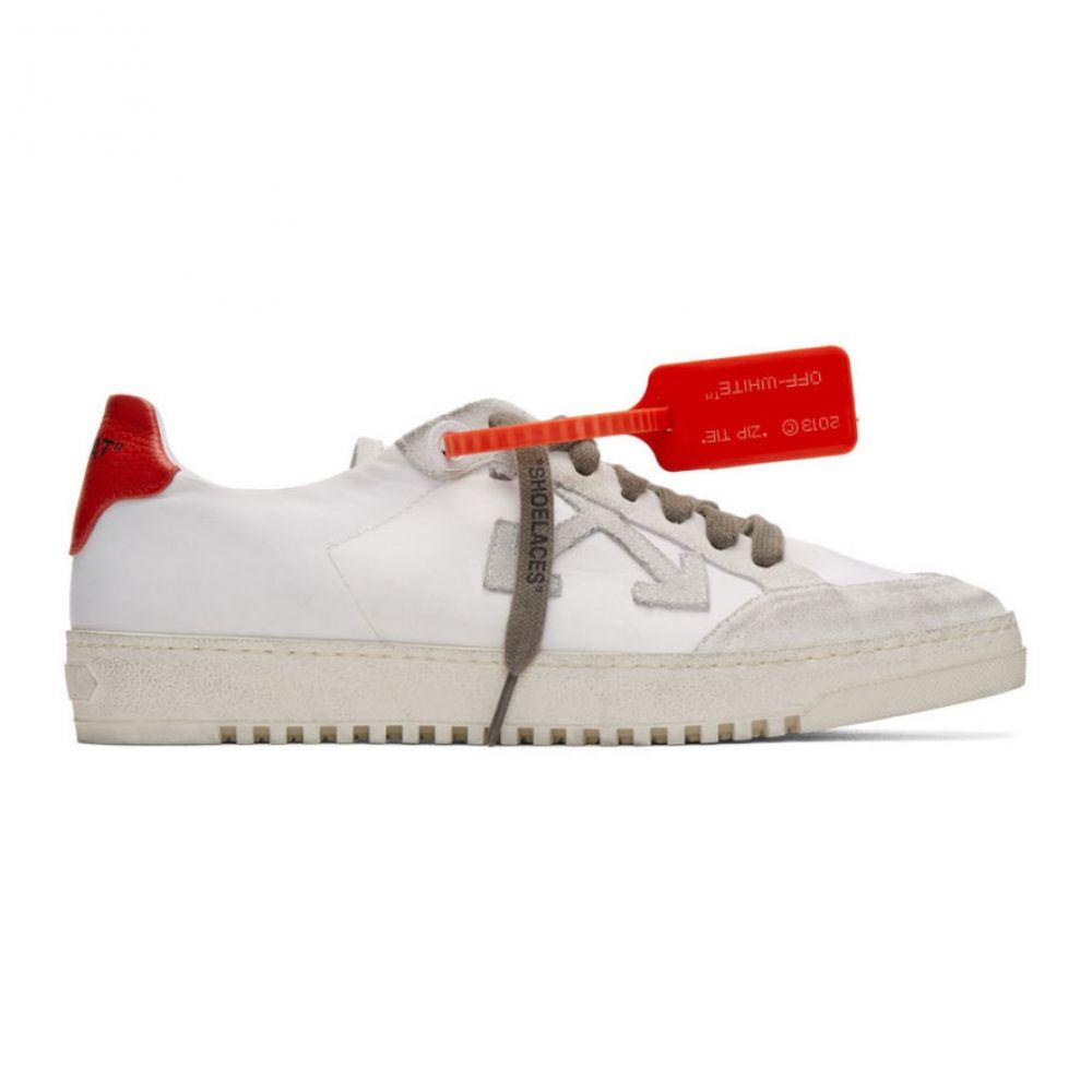 オフホワイト Off-White メンズ スニーカー シューズ・靴【White & Red Low 2.0 Sneakers】White/Red