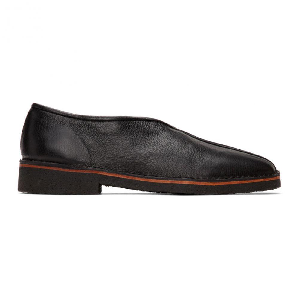 ルメール Lemaire メンズ スリッパ シューズ・靴【Black V-Cut Slippers】Black