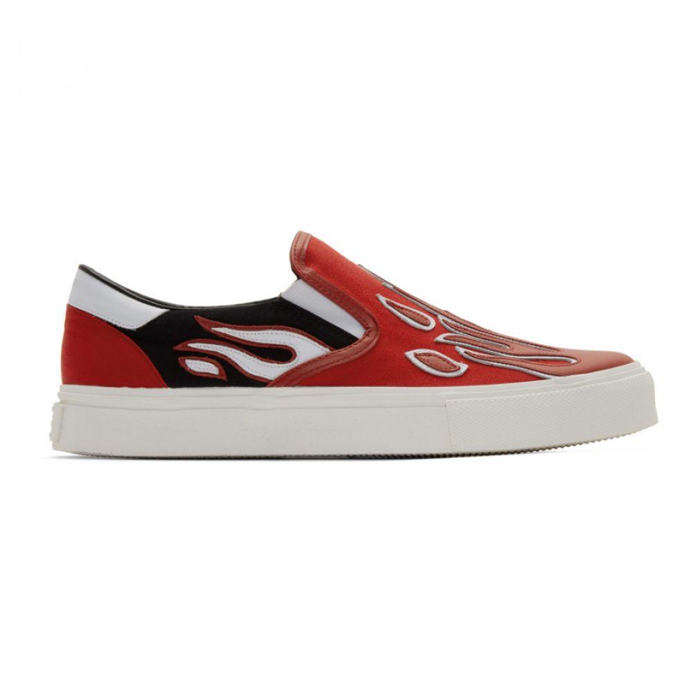 アミリ Amiri メンズ スリッポン・フラット シューズ・靴【SSENSE Exclusive Red Flame Slip-On Sneakers】RBE