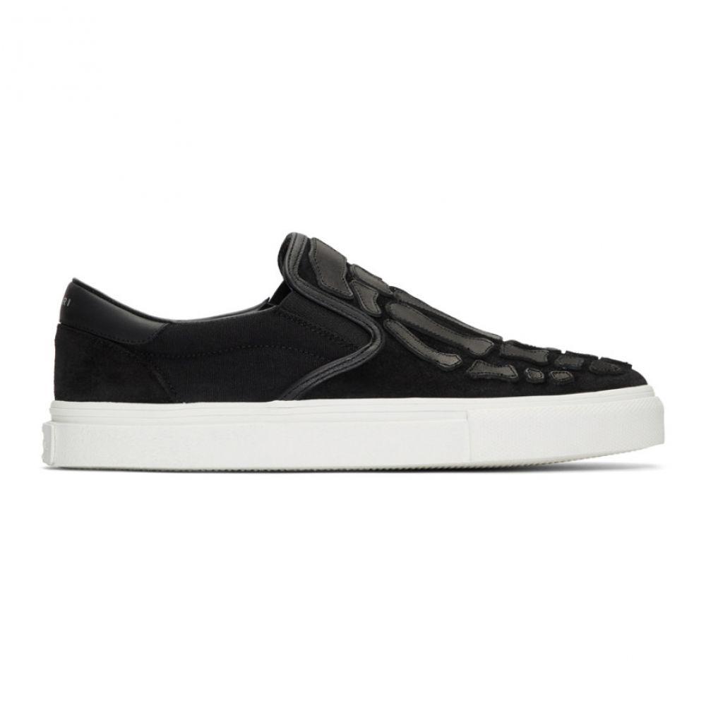アミリ Amiri メンズ スリッポン・フラット シューズ・靴【Black Skeleton Toe Slip-On Sneakers】Black