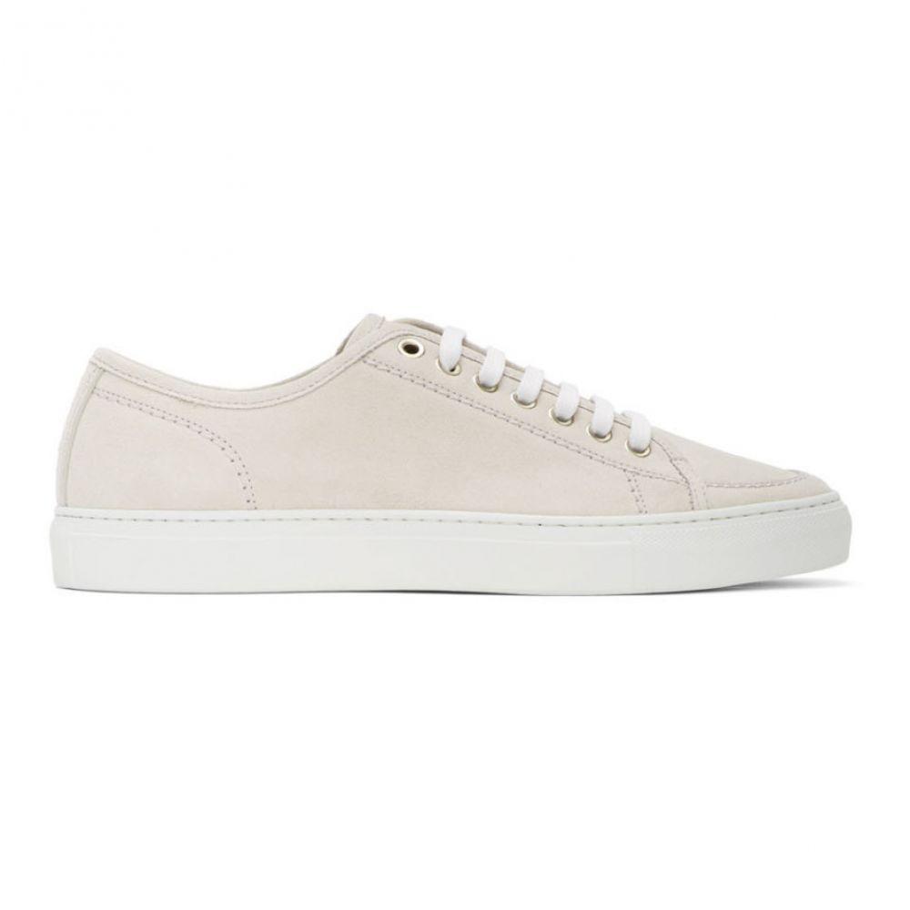 ブリオーニ Brioni メンズ スニーカー シューズ・靴【Off-White Suede Classic Sneakers】White