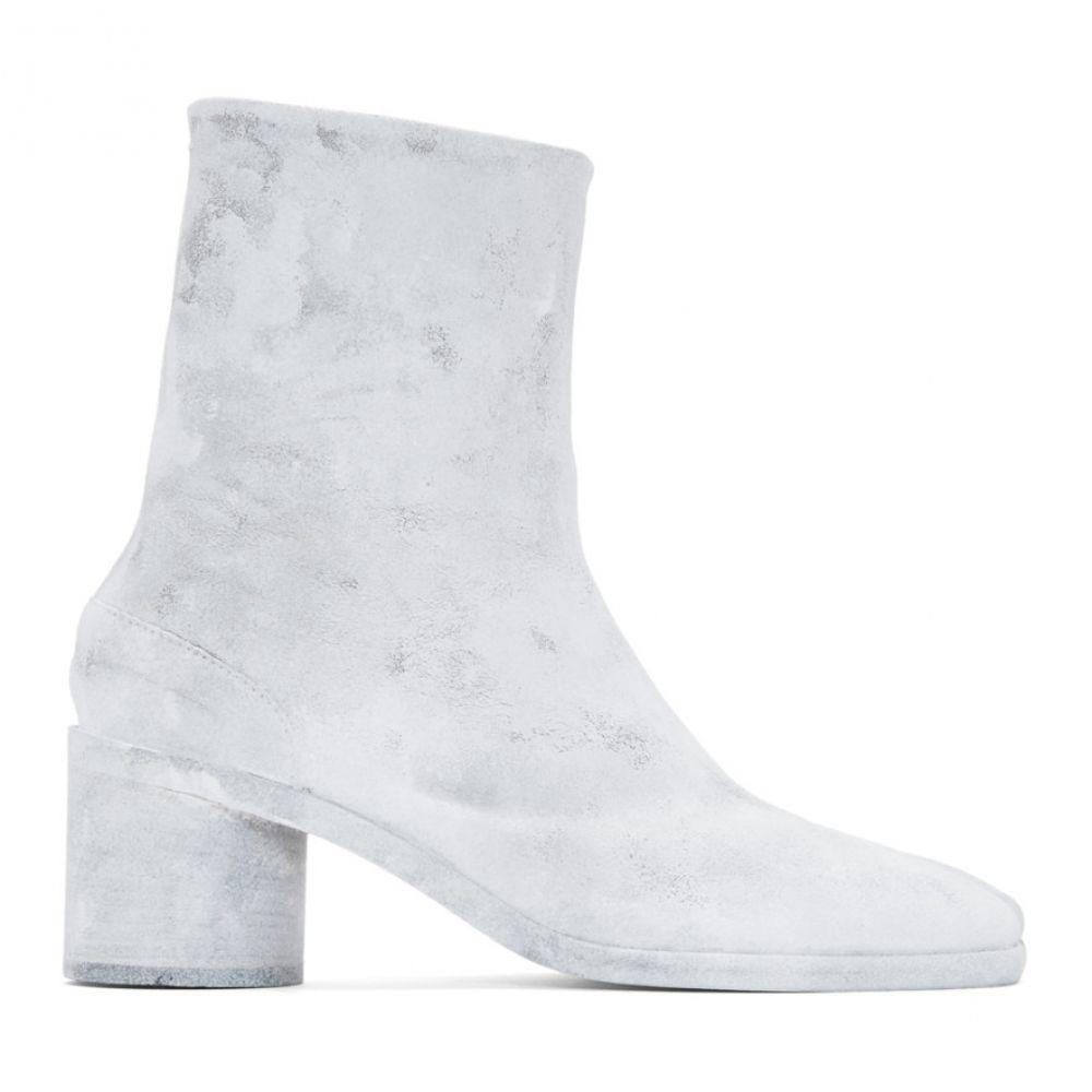 メゾン マルジェラ Maison Margiela メンズ ブーツ シューズ・靴【White Bianchetto Tabi Boots】Grey/White