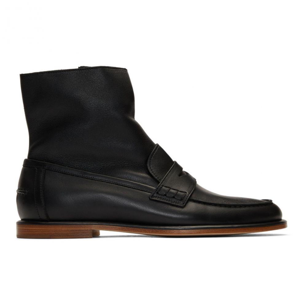 ロエベ Loewe メンズ ブーツ シューズ・靴【Black Loafer Boots】Black