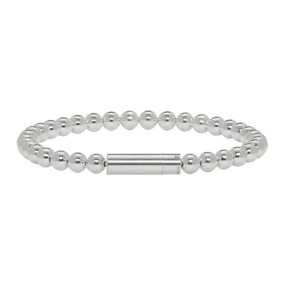 ルグラム Le Gramme メンズ ブレスレット ジュエリー・アクセサリー【Silver Polished 'Le 25 Grammes' Beads Bracelet】Silver