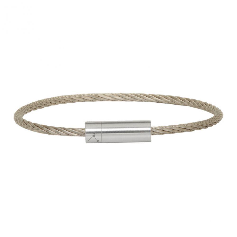 ルグラム Le Gramme メンズ ブレスレット ジュエリー・アクセサリー【Silver Brushed 'Le 9 Grammes' Cable Bracelet】Silver