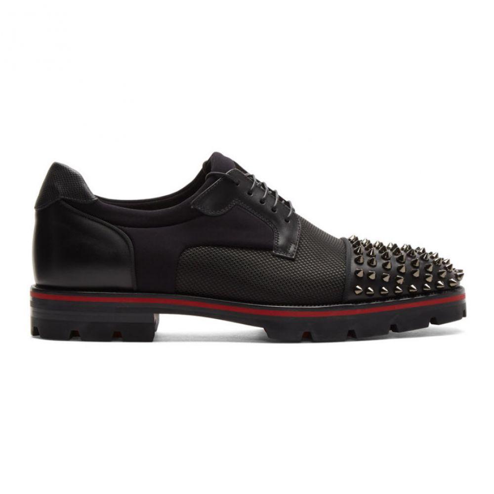 クリスチャン ルブタン Christian Louboutin メンズ 革靴・ビジネスシューズ シューズ・靴【Black Luis Spike Derbys】Black