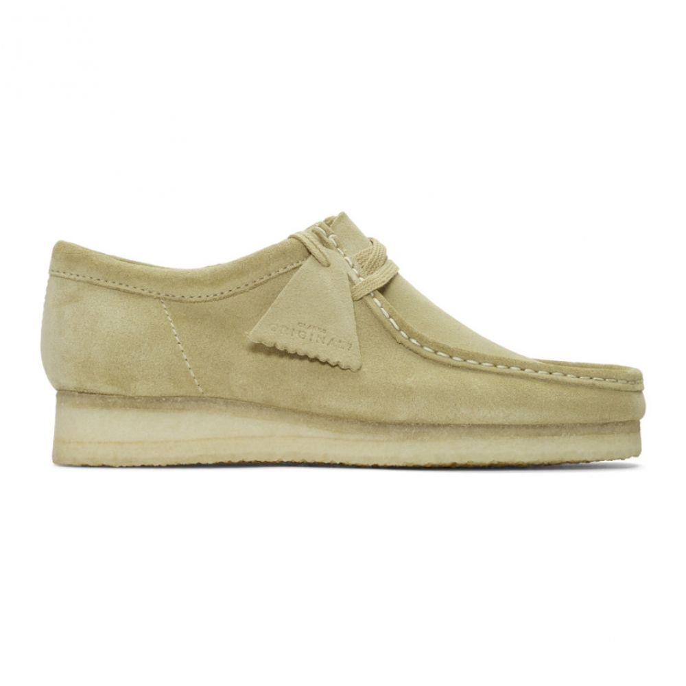 クラークス Clarks Originals メンズ スリッポン・フラット シューズ・靴【Beige Suede Wallabee Moccasins】Maple suede