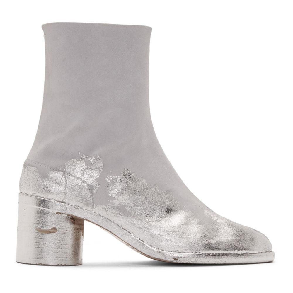 メゾン マルジェラ Maison Margiela メンズ ブーツ シューズ・靴【Grey & Silver Suede Tabi Boots】White/Silver