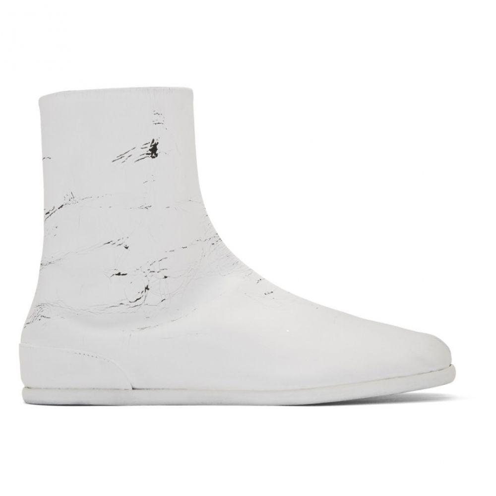 メゾン マルジェラ Maison Margiela メンズ ブーツ シューズ・靴【White Flat Tabi Boots】Mystic white