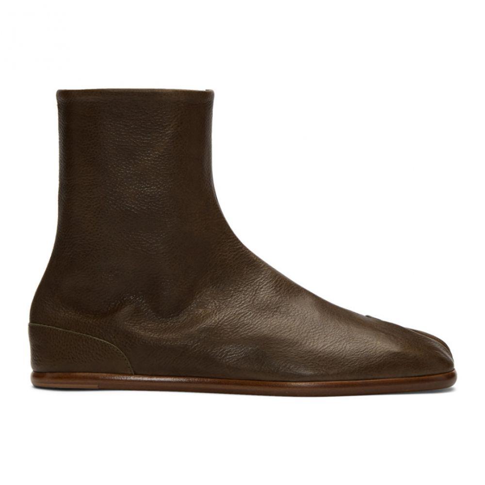 メゾン マルジェラ Maison Margiela メンズ ブーツ シューズ・靴【Khaki Flat Tabi Boots】Olive