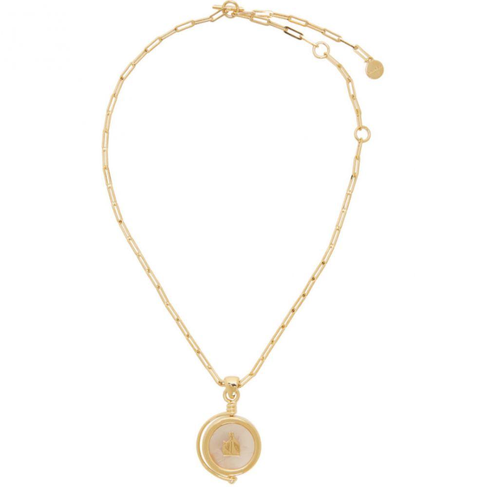 ランバン Lanvin メンズ ネックレス ジュエリー・アクセサリー【Gold & Pink Agathe Stone Pendant Necklace】Light pink/Gold