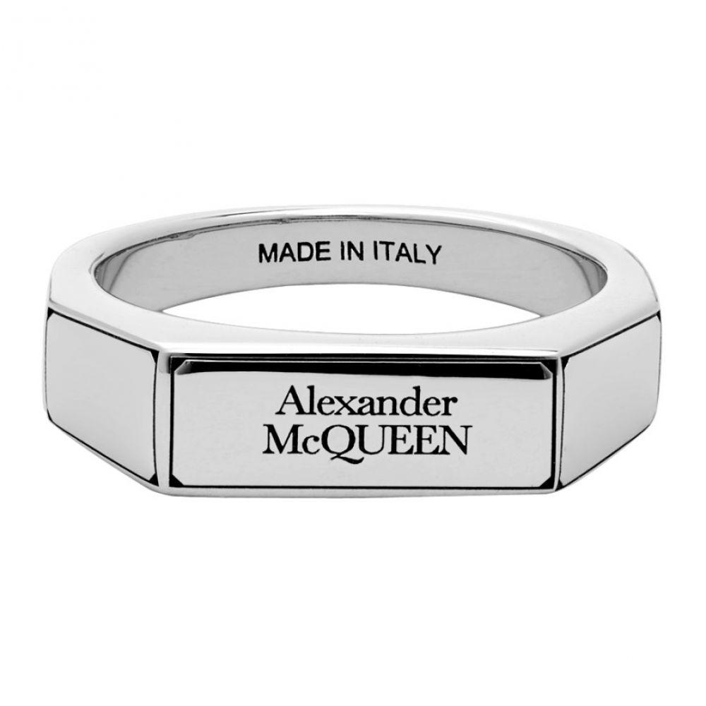 アレキサンダー マックイーン Alexander McQueen メンズ 指輪・リング ジュエリー・アクセサリー【Silver Logo Signet Ring】Silver