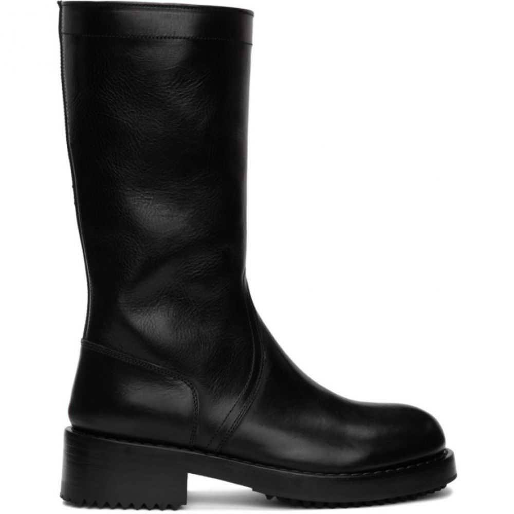 ラフ シモンズ Raf Simons メンズ ブーツ シューズ・靴【Black Cut-Out Boots】Black