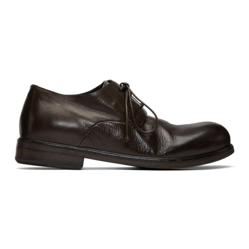 マルセル Marsell メンズ 革靴・ビジネスシューズ シューズ・靴【SSENSE Exclusive Brown Zucca Media Derbys】Brown
