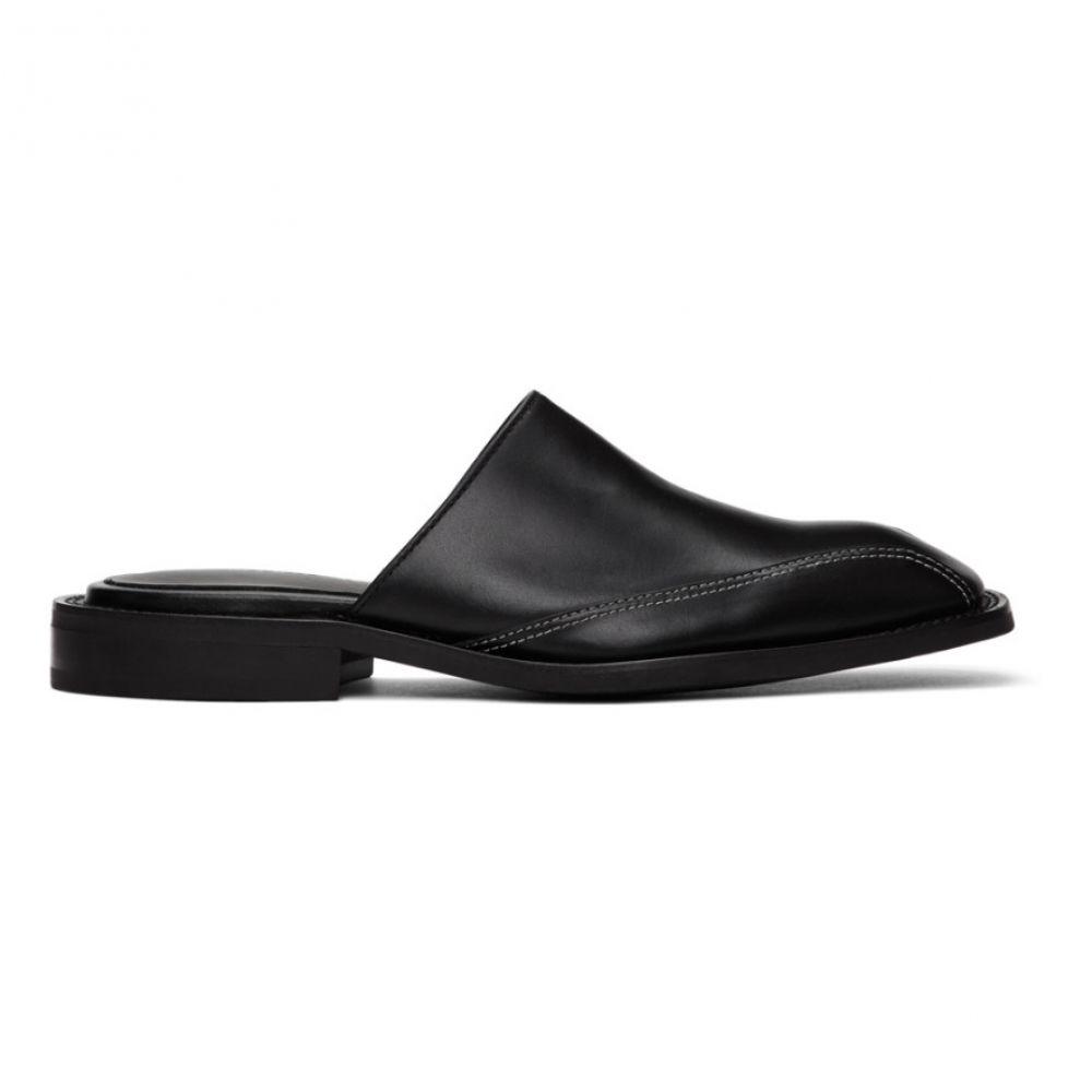 アンダースン ベル Andersson Bell メンズ ローファー スクエアトゥ シューズ・靴【Black Square Toe Mules】Black