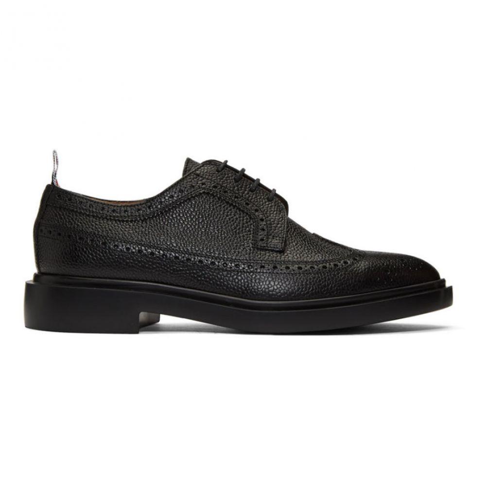 トム ブラウン Thom Browne メンズ 革靴・ビジネスシューズ メダリオン シューズ・靴【Black Classic Longwing Brogues】Black
