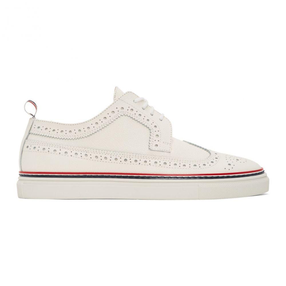 トム ブラウン Thom Browne メンズ 革靴・ビジネスシューズ メダリオン シューズ・靴【Off-White Cupsole Longwing Brogues】White