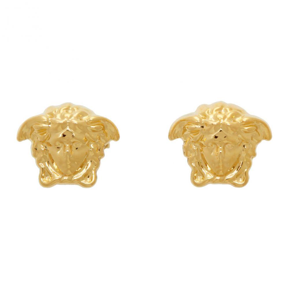 ヴェルサーチ Versace メンズ イヤリング・ピアス メデューサ ジュエリー・アクセサリー【Gold Medusa Stud Earrings】Gold