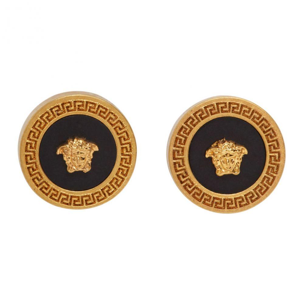 ヴェルサーチ Versace メンズ イヤリング・ピアス ジュエリー・アクセサリー【Gold & Black Tribute Earrings】Gold/Black