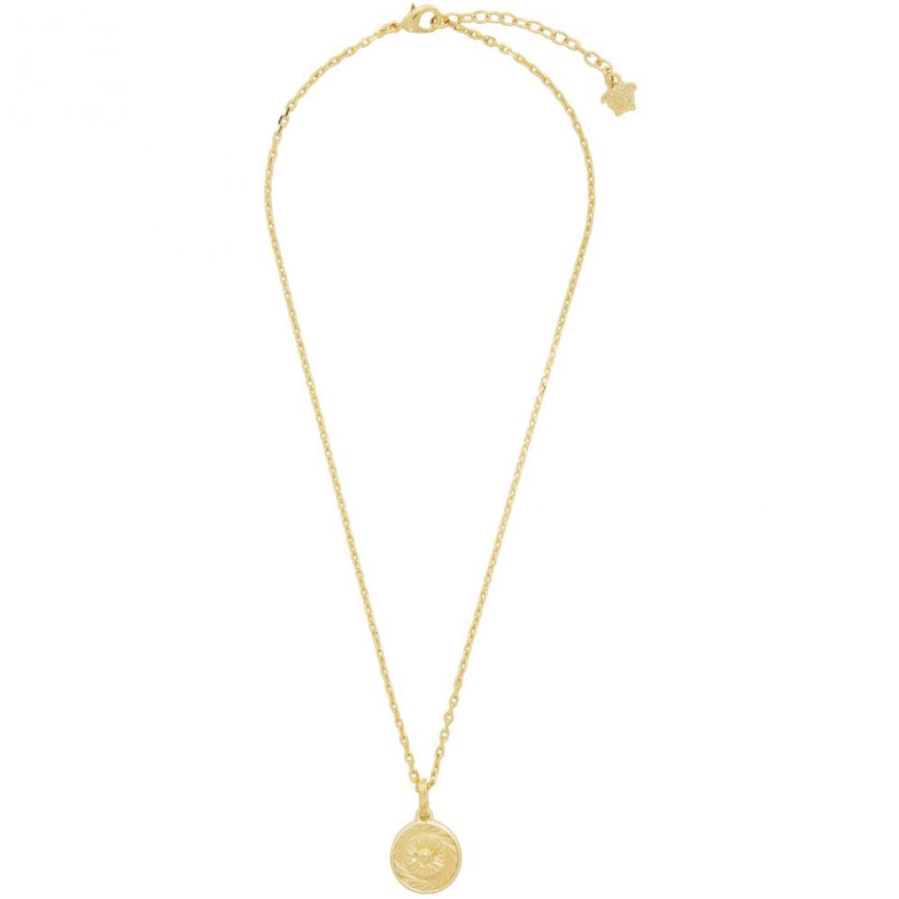 ヴェルサーチ Versace メンズ ネックレス メデューサ ジュエリー・アクセサリー【Gold Medusa Pendant Necklace】Gold