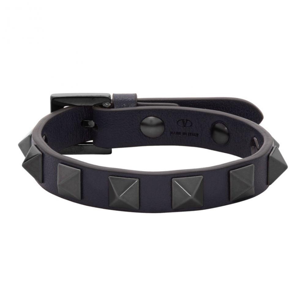 ヴァレンティノ Valentino メンズ ブレスレット ジュエリー・アクセサリー【Navy Garavani Rockstud Bracelet】Navy