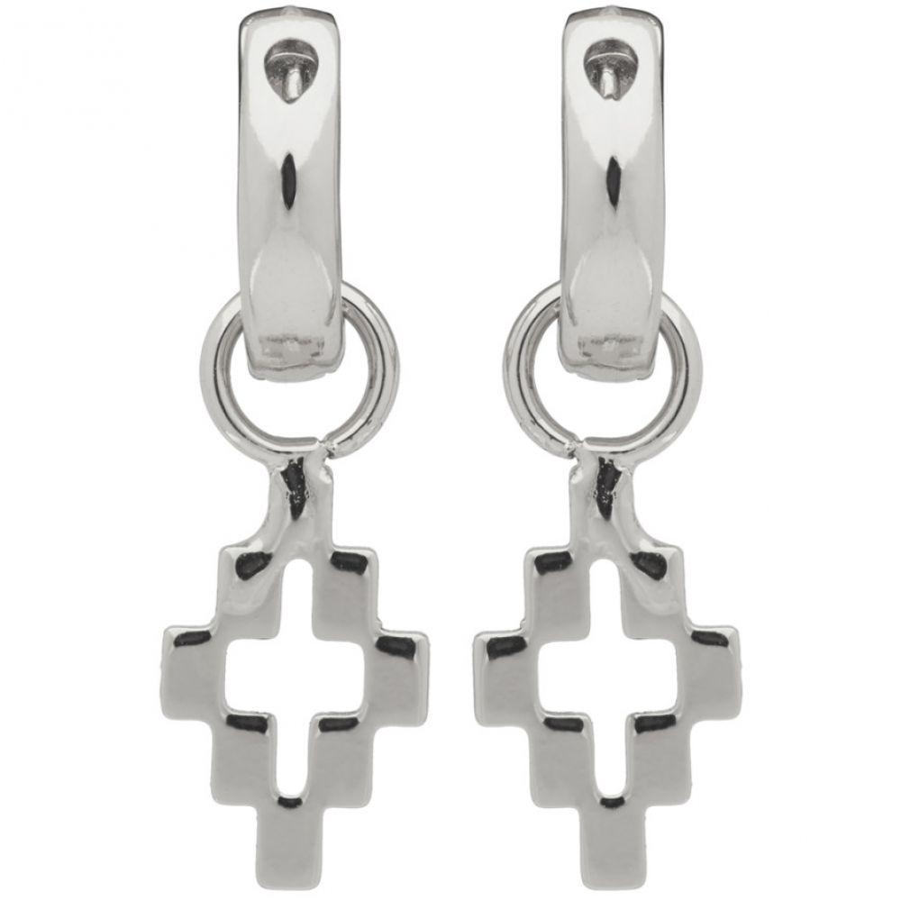 マルセロバーロン Marcelo Burlon County of Milan メンズ イヤリング・ピアス ジュエリー・アクセサリー【Silver Cross Pendant Earrings】Silver