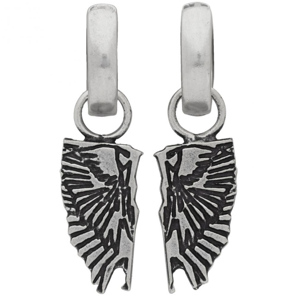 マルセロバーロン Marcelo Burlon County of Milan メンズ イヤリング・ピアス ジュエリー・アクセサリー【Silver Wings Pendant Earrings】Silver