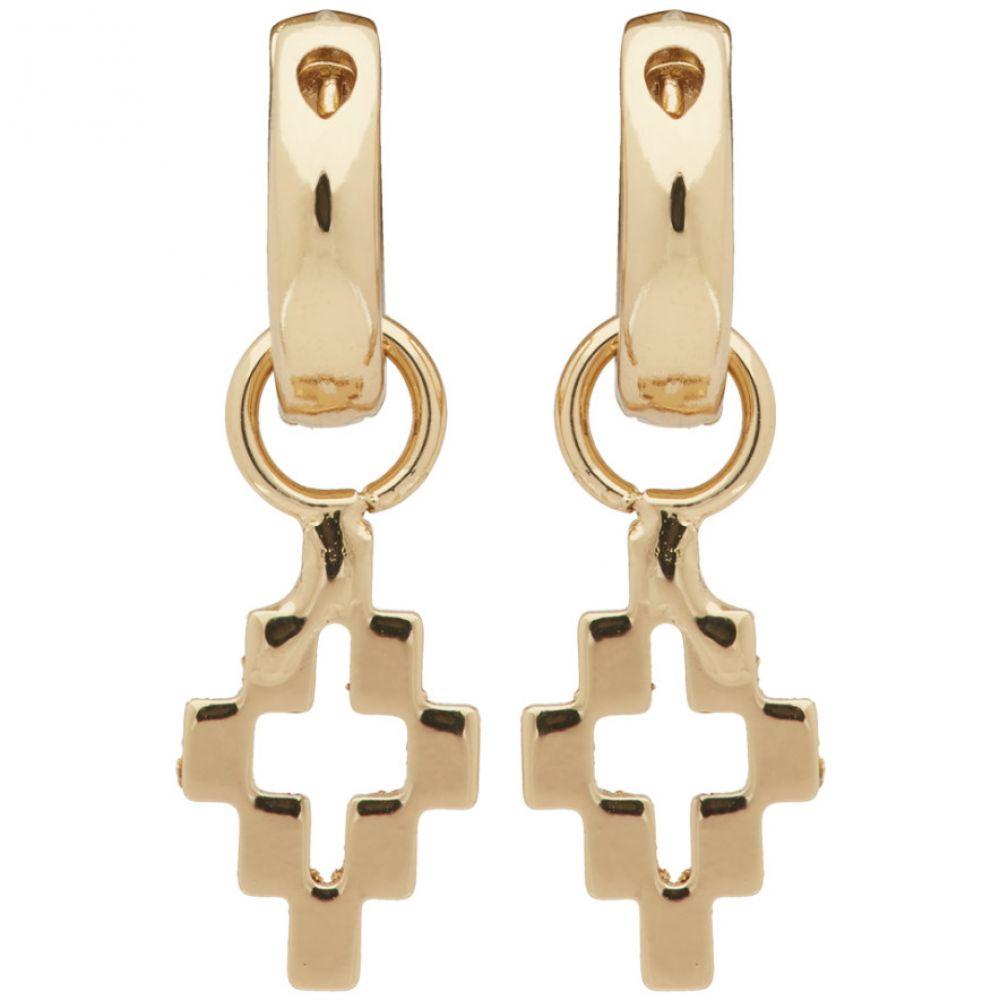 マルセロバーロン Marcelo Burlon County of Milan メンズ イヤリング・ピアス ジュエリー・アクセサリー【Gold Cross Pendant Earrings】Gold