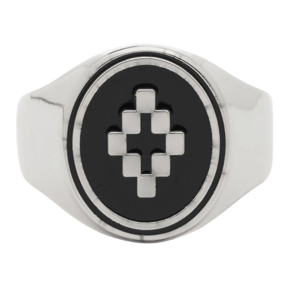 マルセロバーロン Marcelo Burlon County of Milan メンズ 指輪・リング ジュエリー・アクセサリー【Silver & Black Cross Ring】Silver/Black