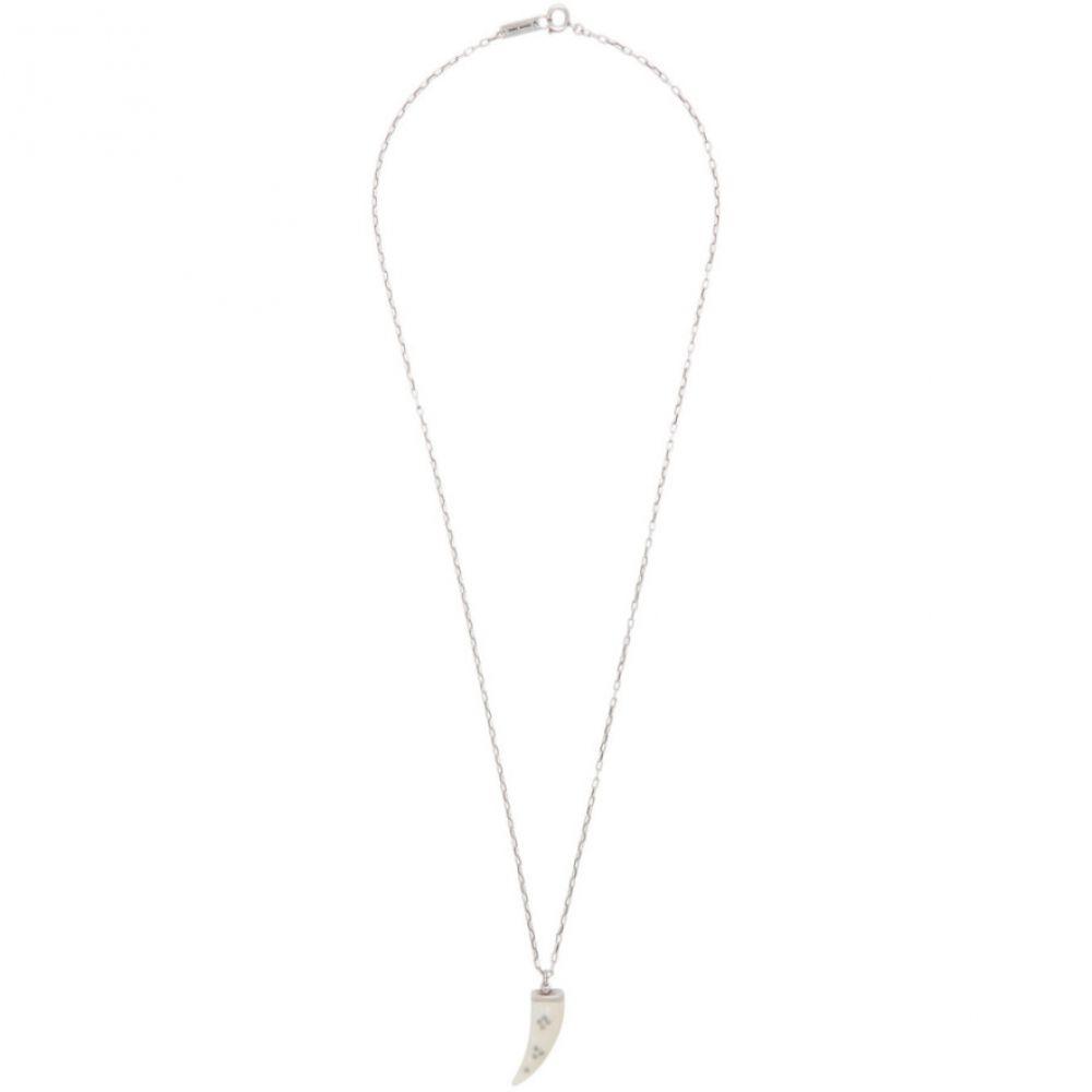 イザベル マラン Isabel Marant メンズ ネックレス ジュエリー・アクセサリー【Off-White & Silver Chain Link Sautoir Necklace】Ecru/Silver