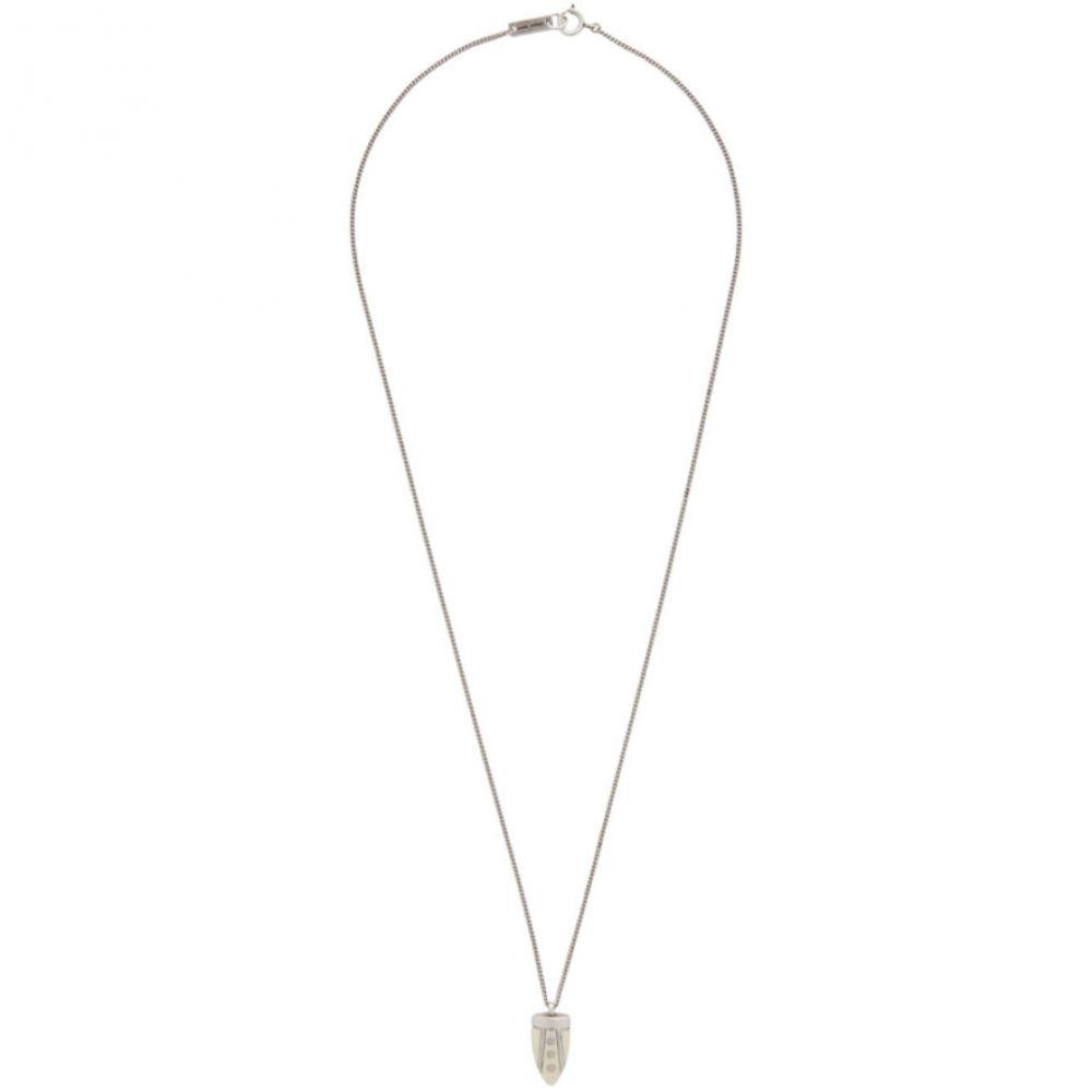 イザベル マラン Isabel Marant メンズ ネックレス ジュエリー・アクセサリー【Off-White & Silver Sautoir Long Necklace】Ecru/Silver