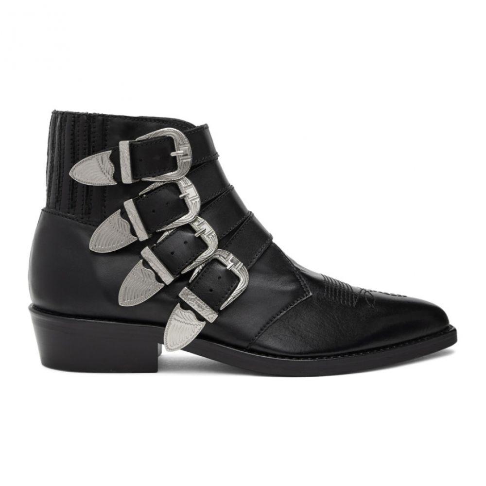 トーガ Toga Virilis メンズ ブーツ ウェスタンブーツ シューズ・靴【Black Four Buckle Western Boots】Black