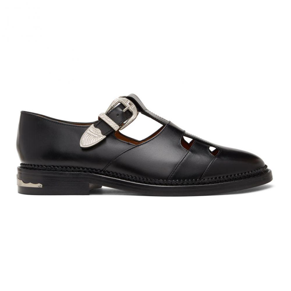トーガ Toga Virilis メンズ ローファー シューズ・靴【Black T-Strap Loafers】Black