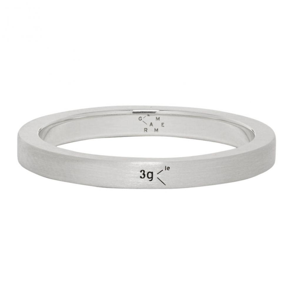 ルグラム Le Gramme メンズ 指輪・リング ジュエリー・アクセサリー【Silver Brushed 'Le 3 Grammes' Ribbon Ring】Silver