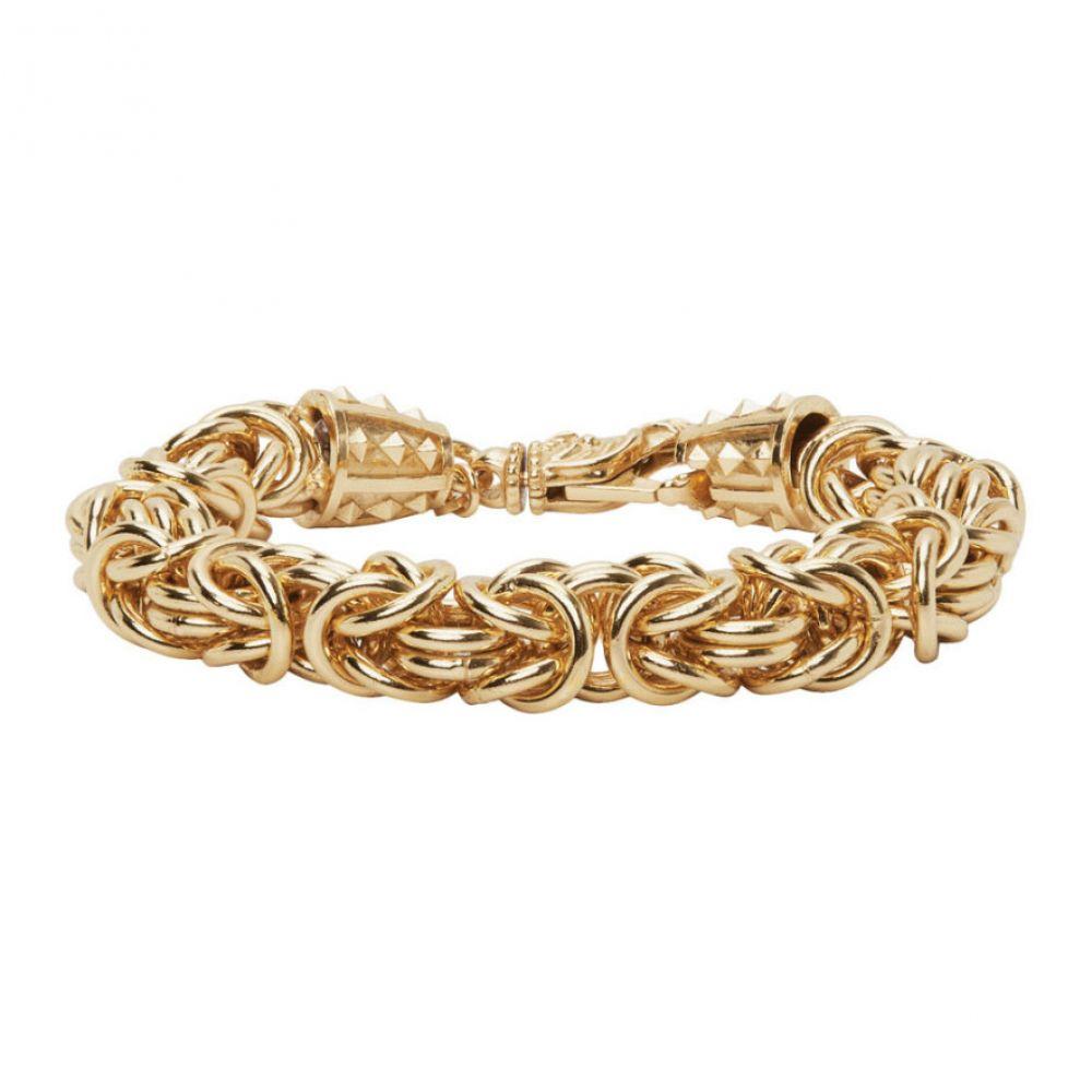 エマニュエレ ビコッキ Emanuele Bicocchi メンズ ブレスレット ジュエリー・アクセサリー【Gold Byzantine Chain Bracelet】Gold