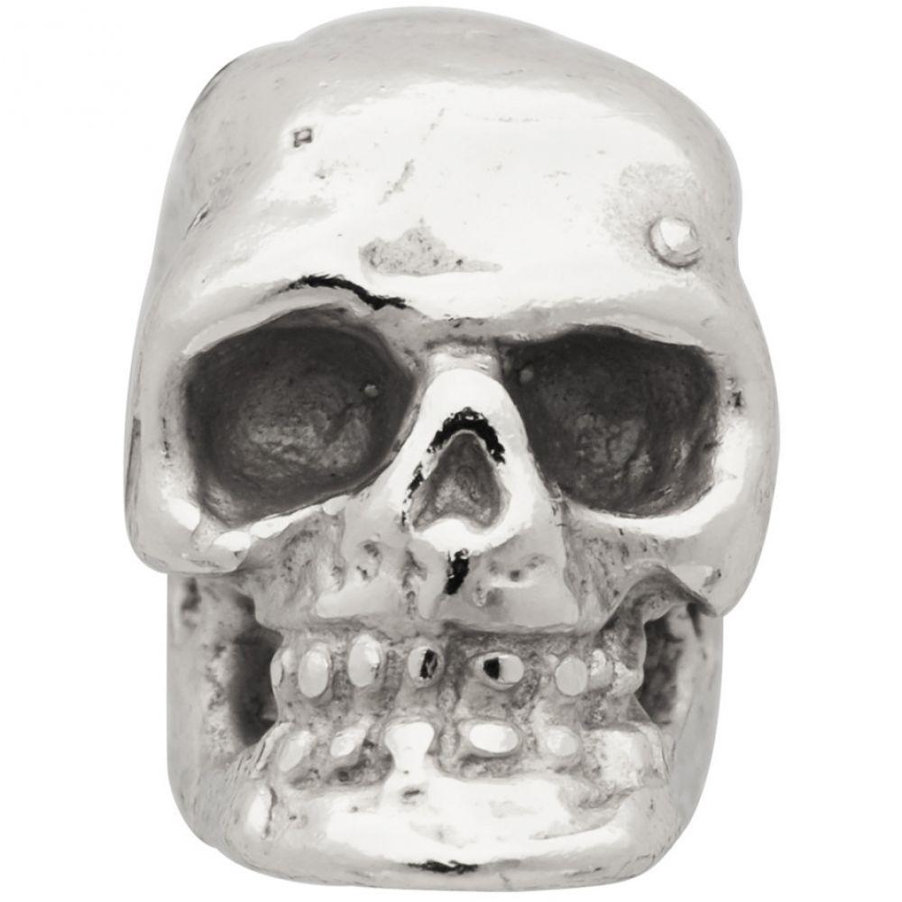 エマニュエレ ビコッキ Emanuele Bicocchi メンズ イヤリング・ピアス スタッドピアス ジュエリー・アクセサリー【Silver Single Tiny Skull Stud Earring】Silver