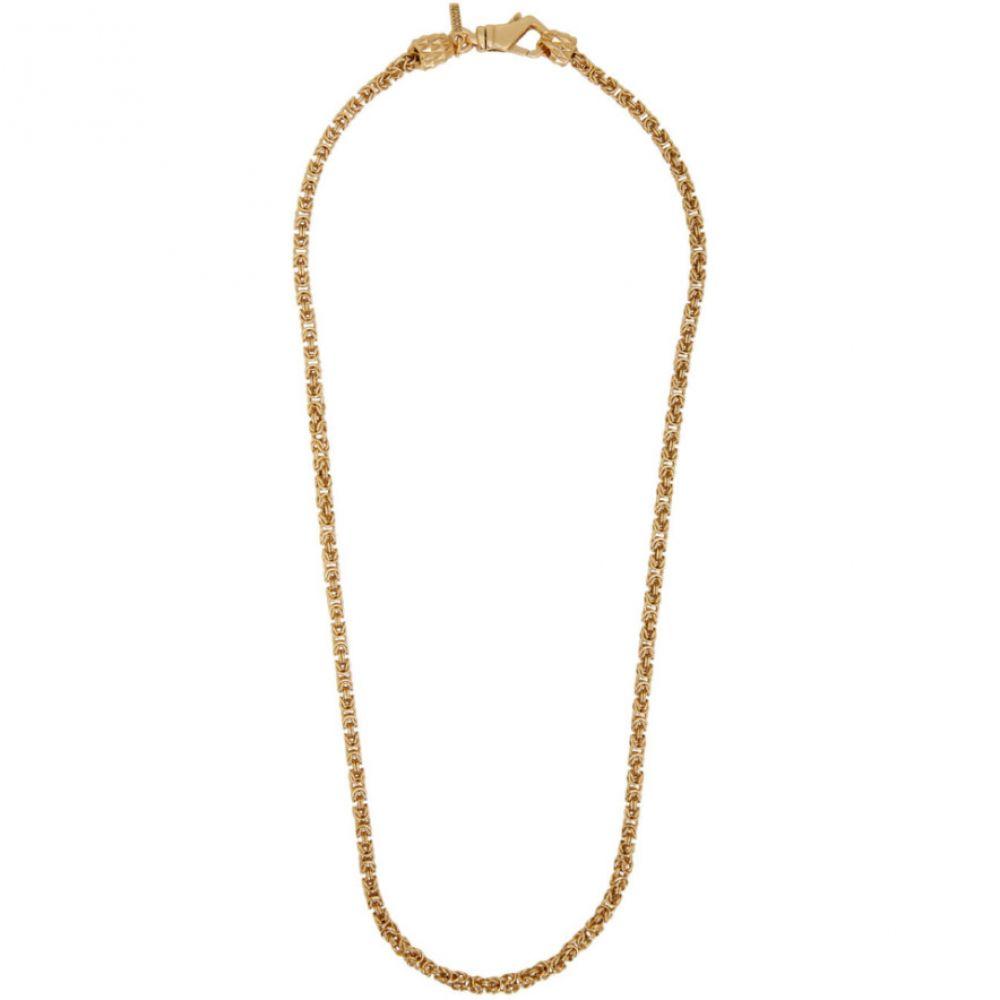 エマニュエレ ビコッキ Emanuele Bicocchi メンズ ネックレス ジュエリー・アクセサリー【Gold Byzantine Chain Necklace】Gold byzantine