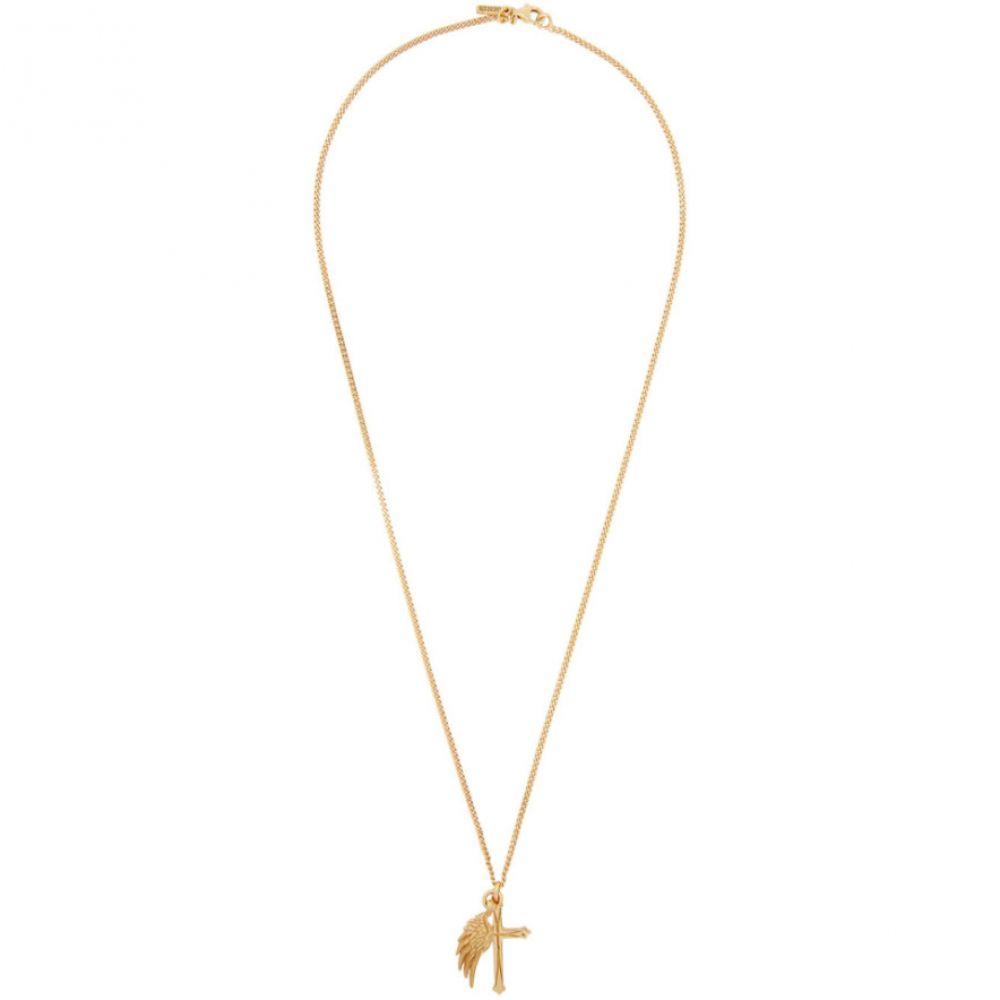 エマニュエレ ビコッキ Emanuele Bicocchi メンズ ネックレス ジュエリー・アクセサリー【Gold Wing & Cross Necklace】Gold