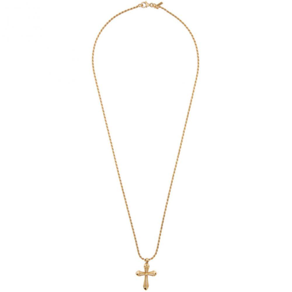 エマニュエレ ビコッキ Emanuele Bicocchi メンズ ネックレス ジュエリー・アクセサリー【SSENSE Exclusive Gold Thin Cross Necklace】Gold