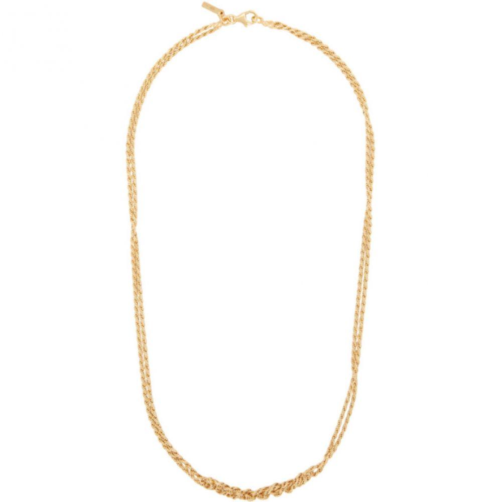 エマニュエレ ビコッキ Emanuele Bicocchi メンズ ネックレス ジュエリー・アクセサリー【SSENSE Exclusive Gold Crochet Necklace】Gold