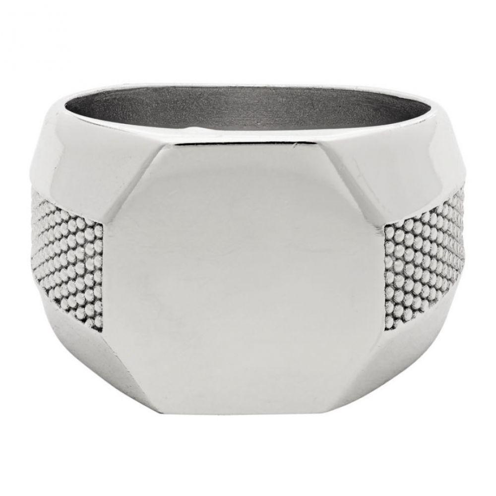 エマニュエレ ビコッキ Emanuele Bicocchi メンズ 指輪・リング ジュエリー・アクセサリー【Silver Plain Signet Ring】Silver