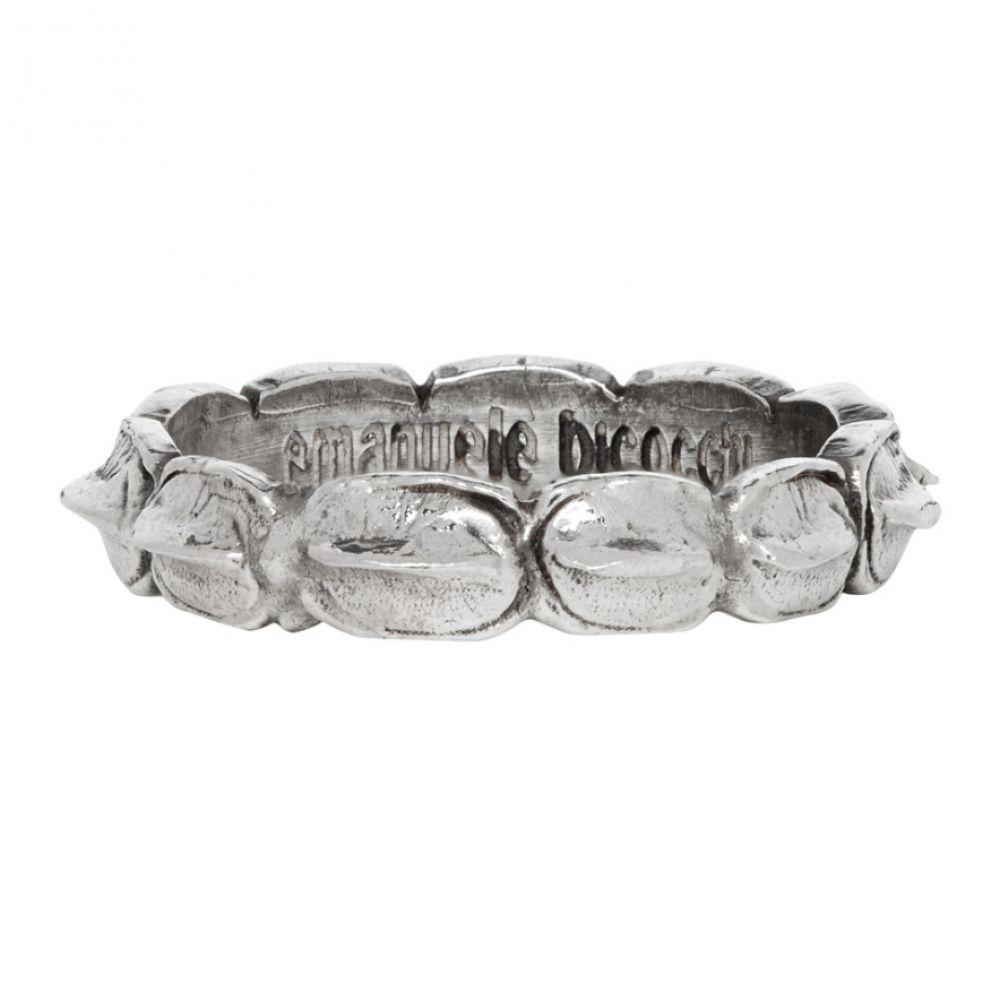 エマニュエレ ビコッキ Emanuele Bicocchi メンズ 指輪・リング ジュエリー・アクセサリー【Silver Croc Hornback Ring】Silver