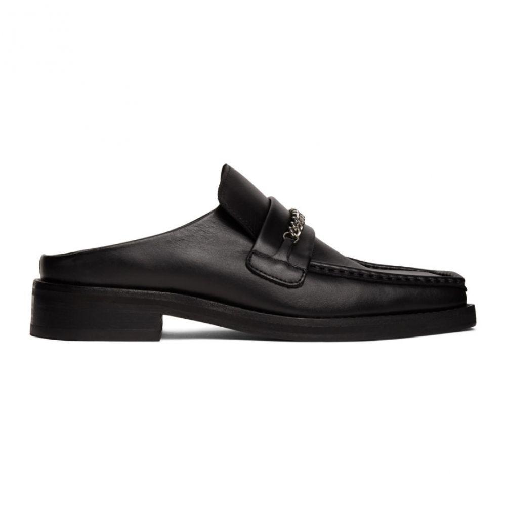 マーティン ローズ Martine Rose メンズ ローファー シューズ・靴【Black Slip-On Loafers】Black