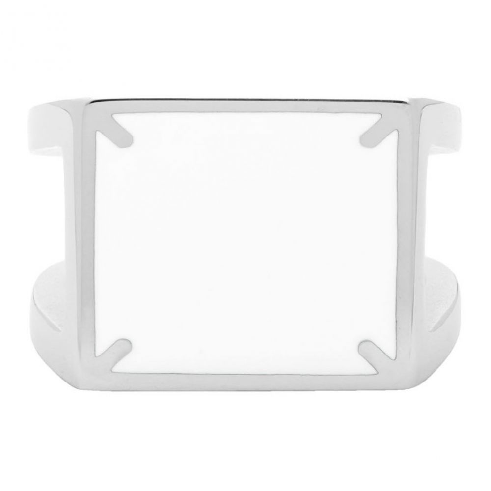 メゾン マルジェラ Maison Margiela メンズ 指輪・リング ジュエリー・アクセサリー【Silver Decortique 4-Stitches Ring】Silver/White