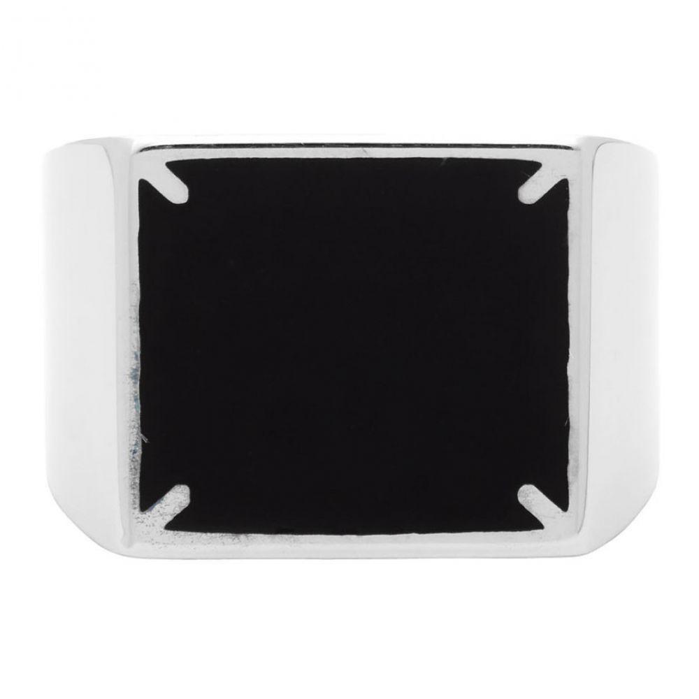 メゾン マルジェラ Maison Margiela メンズ 指輪・リング ジュエリー・アクセサリー【Silver & Black 4-Stitches Ring】Silver/Black