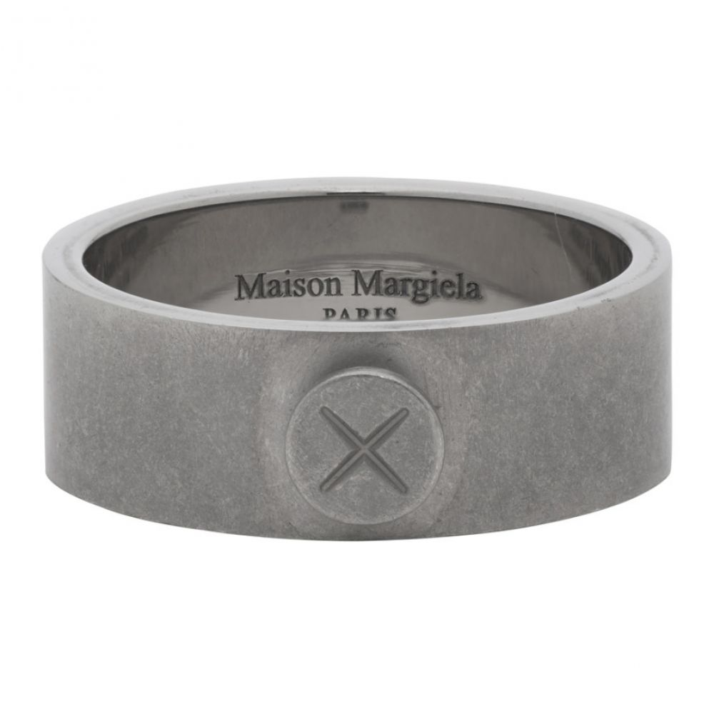 メゾン マルジェラ Maison Margiela メンズ 指輪・リング ジュエリー・アクセサリー【Silver Screw Detail Ring】Silver