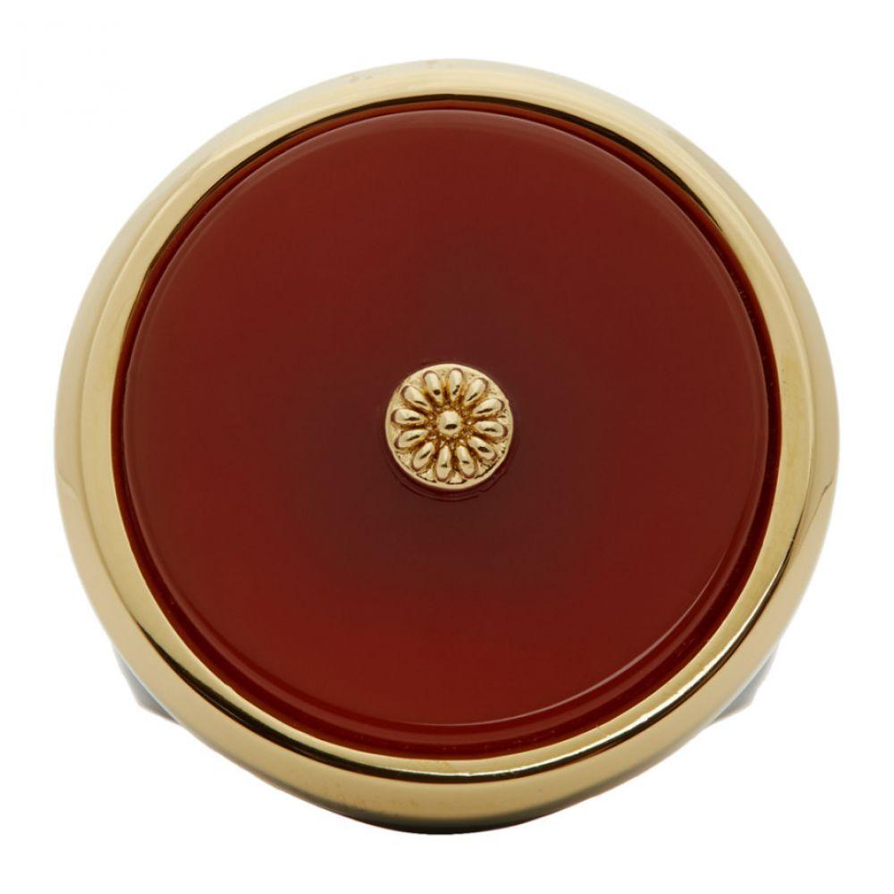 ランバン Lanvin メンズ 指輪・リング ジュエリー・アクセサリー【Red & Gold Enamel Agathe Signet Ring】Red/Gold/Black