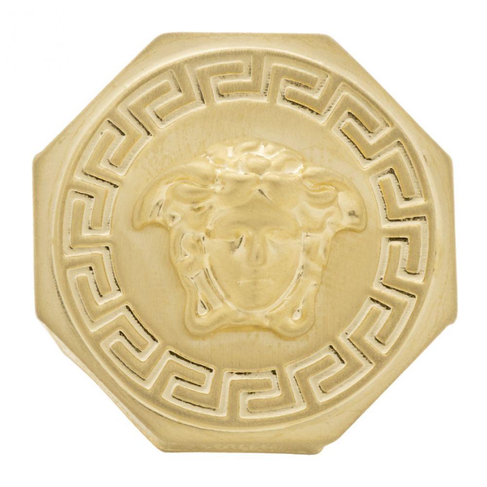 ヴェルサーチ Versace メンズ 指輪・リング メデューサ ジュエリー・アクセサリー【Gold Brushed Medusa Ring】Gold