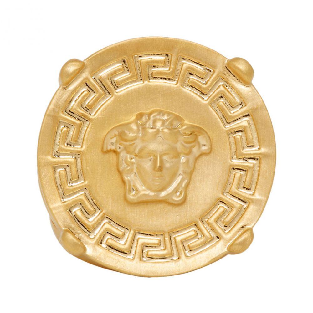 ヴェルサーチ Versace メンズ 指輪・リング メデューサ ジュエリー・アクセサリー【Gold Round Medusa Greek Ring】Gold