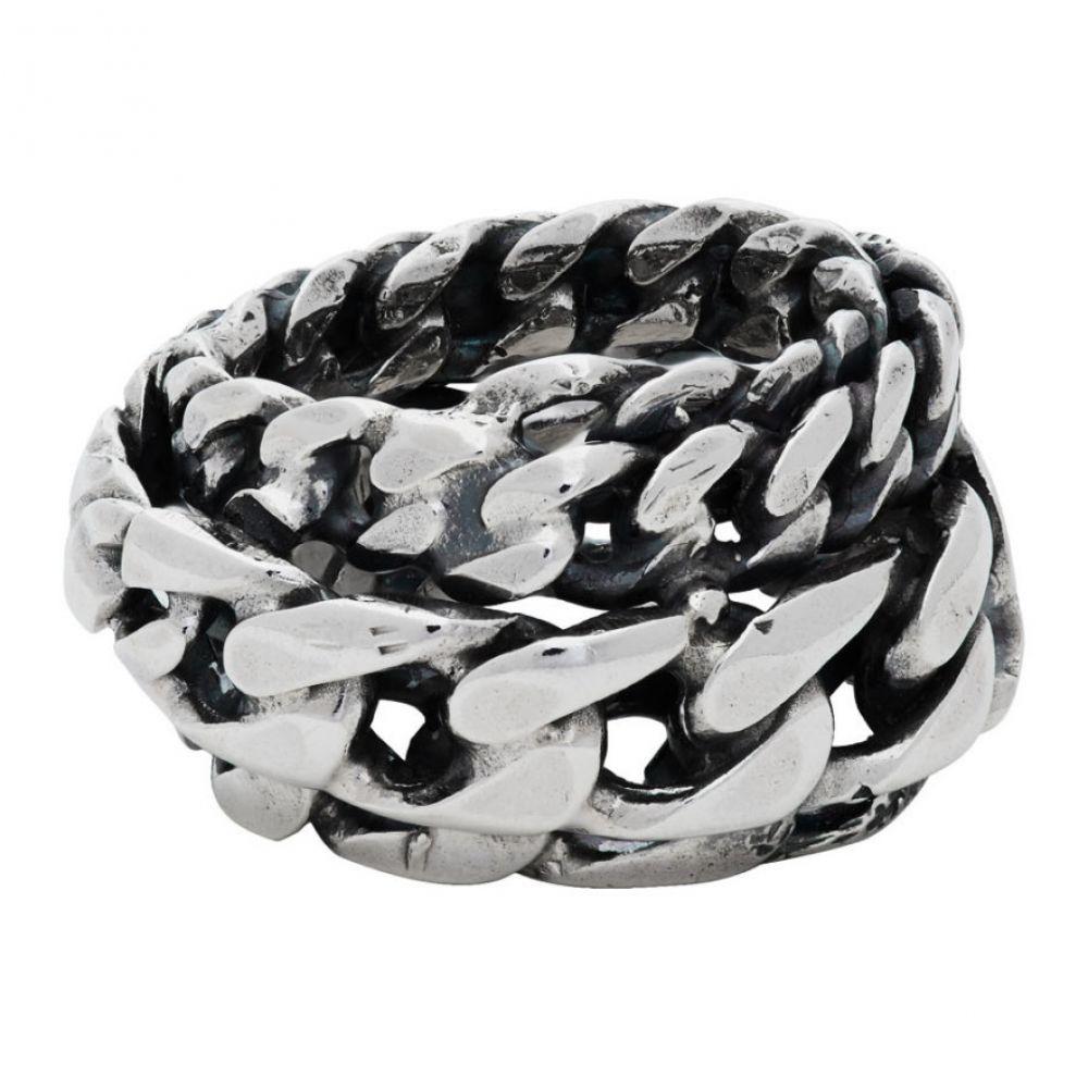 エマニュエレ ビコッキ Emanuele Bicocchi メンズ 指輪・リング ジュエリー・アクセサリー【Silver Spiral Chain Ring】Silver